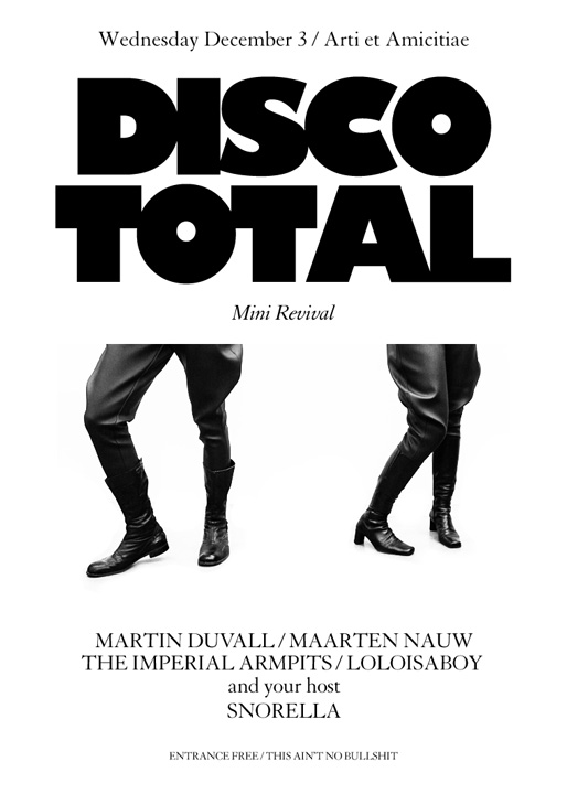 DISCO TOTAL MINI REVIVAL DECEMBER 3 2014