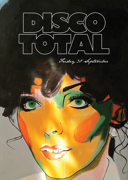 DISCO TOTAL FRIDAY 30 SEPTEMBER CLUB UP AMSTERDAM - painting by Martyn F Overweel